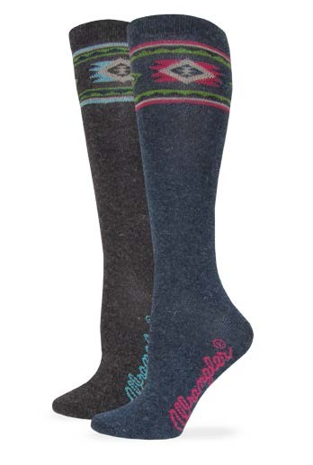 9678: Angora Aztec Boot Sock
