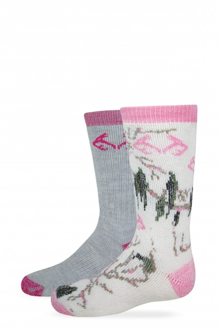 2/771/578: Girl's Camo Boot Sock