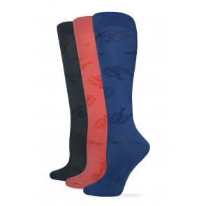 712: Ladies Microfiber Spurs Boot Sock