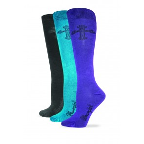 9407: Ladies Rayon Cross Boot Sock