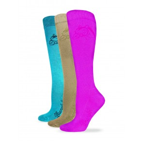 9496: Ladies Cushioned Horse Head Boot Sock
