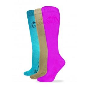9496: Ladies Cushioned Horse Head Boot Sock